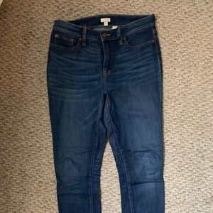 J. Crew Medium Wash High Rise Skinny Denim